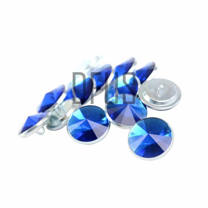 Blue Diamante crystal upholstery buttons 20mm loop back ...