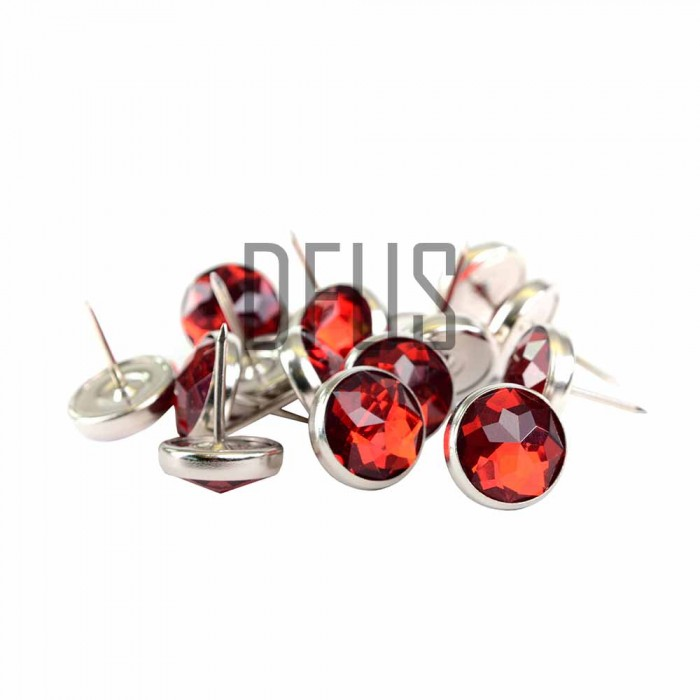 Red Diamante crystal upholstery nail buttons 17mm head ...
